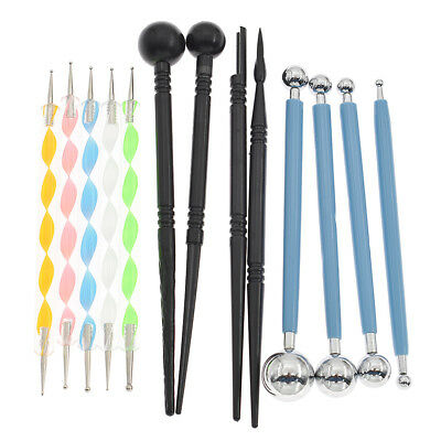 13pcs Mandala Dotting Tools Painting Stencils Rocks Template Set Acrylic Rods