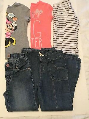 Lot of 5 Girls Clothing Size 5/6, Carter's, Disney Old Navy, Children's Place