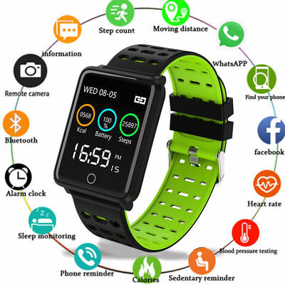 F3 Smartwatch Orologio intelligente frequenza cardiaca IP67 per iphone Android