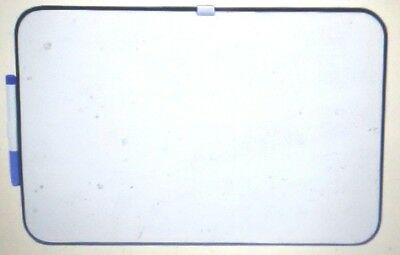 School Smart Dry Erase Board, 11 L X 17 W in, Black Frame, Horizontal/Vertical