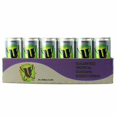 24 X 250Ml Can V Sugar Free Tropical Energy Drink