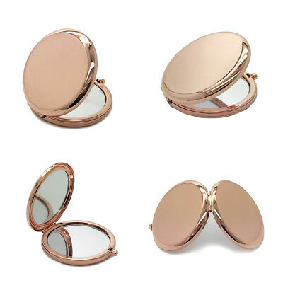 Compact Mirror Double-Side Pop-Up Pocket Makeup Mirror Metal Round Case Proper