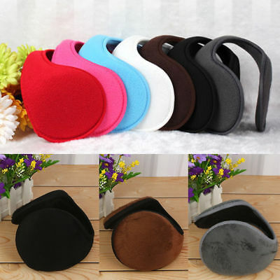 Mens Ladies Unisex Soft Fleece Wrap Around Adjustable Ear Muffs Winter Warm B3