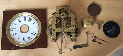 Seth Thomas American Alarm Clock Mechanism, Pendulum, Face , Hands Etc