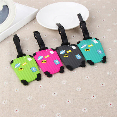 Silicone Luggage Tags Suitcase Label Name Address ID Bag Baggage Tag Travel LI