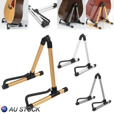 New Guitar Floor Stand Holder A Frame Universal Fits Acoustic Electric Bass