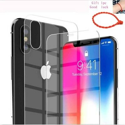 9H Front+Back Tempered Glass Film Screen Protector for Apple iPhone XS Max/XR/X