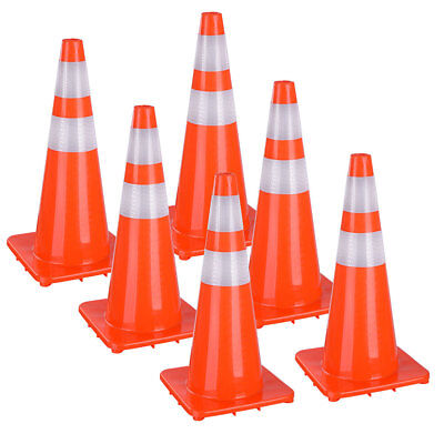 "28"" 36"" PVC Road Traffic Cones Reflective Overlap Parking Emergency Safety Cone"