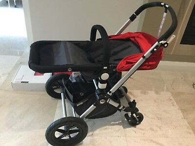 Bugaboo Cameleon Pram in Red and Grey