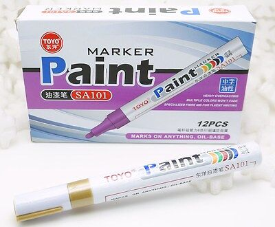 NEW Premium Toyo Waterproof Permanent Paint Marker Pen Oil Based Fast Drying