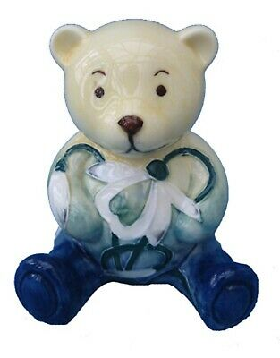Old Tupton  5901 Snowdrop Birthday China Teddy Bear January Hand Made & Painted
