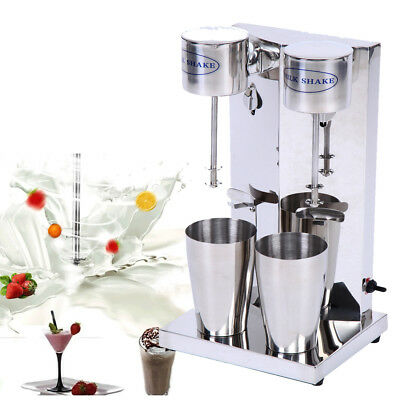 Commercial Milkshake Maker Machine Blender Mixer Smoothie Cocktail Double-cup