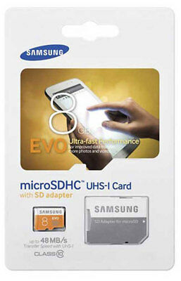 New Samsung 8GB Micro SD Card SDXC EVO UHS-I Class 10 TF Memory Card FAST
