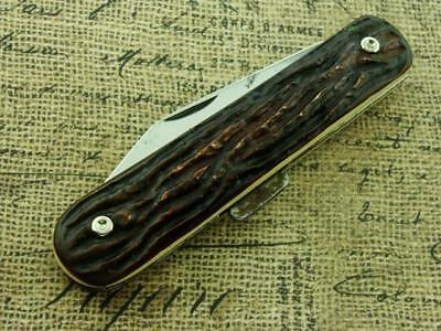 Vintage High Carbon Steel Usa Lockback Folding Pocket Knife Hunting Knives Tools