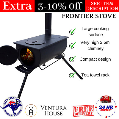Heavy-Duty Compact TAS Frontier Stove Best Outdoor Camping Cooker Warmer Heater
