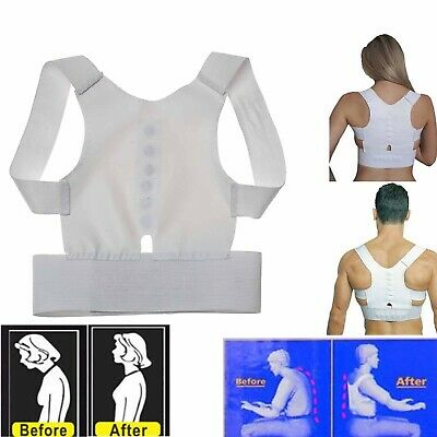 Adjustable Magnetic Therapy Posture Back Shoulder Corrector Support Brace Belt