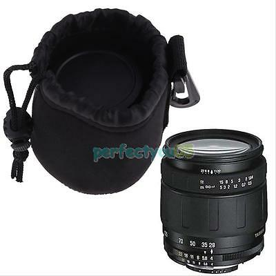 Neoprene Soft DSLR Camera Lens Bag Pouch for Canon Sony Nissin Pentax Size Small