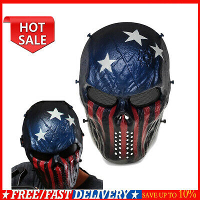 CS Game Skull Skeleton Full Face Tactical Paintball Airsoft Protect Cover