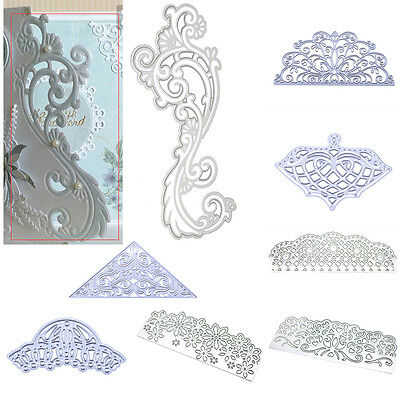 Flower Frame Edge Cutting Dies Stencil DIY Scrapbooking Craft Paper Card Decor
