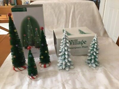 Department 56 Village Accessories Peppermint Trees And Wintergreen Pines