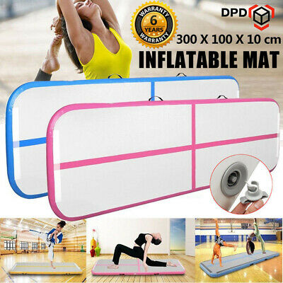 3x1M AirTrack Inflatable Air Track Floor Gymnastics Tumbling Mat GYM Yoga w/Pump