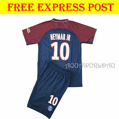 top fashion c3cc9 0b9f5 NEW SEASON 2018 Kids Soccer Jersey PSG Home #10 NEYMAR JR Kit Top+Short Set
