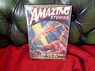 American Pulp Magazine Amazing Stories Who Sows the Wind 1951