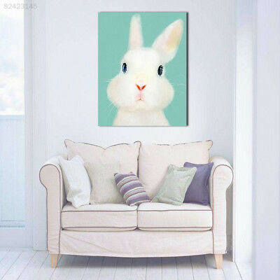 A51C Colorful Cute Cartoon Animal Rabbit Wall Oil Painting Home Decor 35X45cm