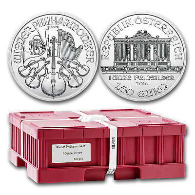 2019 Austria 500-Coin 1 oz Silver Philharmonics (Sealed Box) - SKU#171340