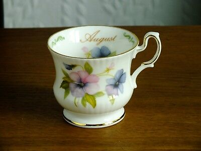Queens Rosina China Special Flowers August Pansy Teacup.