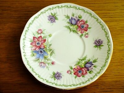 Queens Rosina China Special Flowers July Anenome Saucer