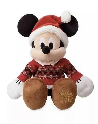 Disney 2018 Mickey Mouse Christmas Plush Soft Toy Dated