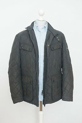 Barbour International Mens Sea Ariel Quilted Motorcycle Jacket Size L