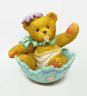 Cherished Teddies Bunny Just In Time For Spring Baby Bear Enesco Figurine Shell