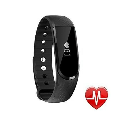 (Black) - Fitness Tracker with Heart Rate Monitor, Letscom Activity Tracker