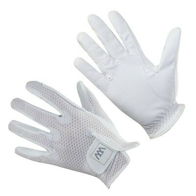 (Size 8.5, White) - Woof Wear Event Riding Glove. Free Delivery