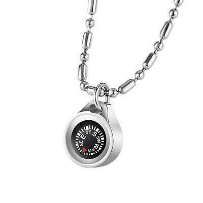 DAYHAO Navigation Compass Necklace, Waterproof Compass Outdoor Gift for