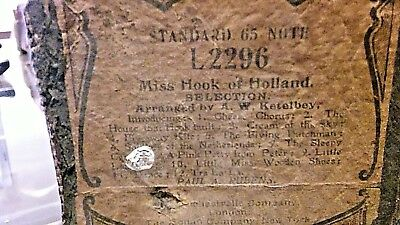 Miss Hook Of Holland Selection Vintage Pianola Roll