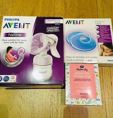 phillips avent breast pump, Philips Avent Thermopads And 10 Milk Storage Bags