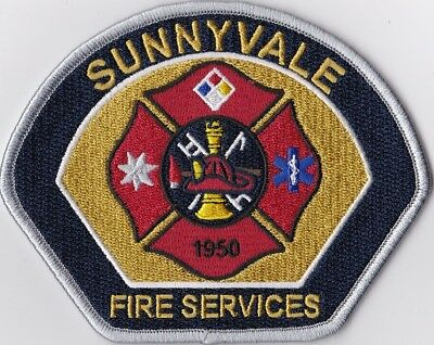 Sunnyvale Fire Department California Firefighter Patch