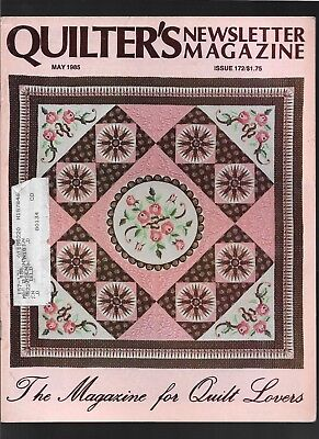 1985 May vintage issue Quilter's Newsletter Magazine quilting COMBINED SHIP