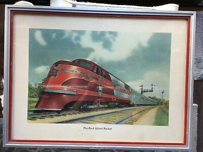 Rock Island 1937 Rocket Train Lithograph