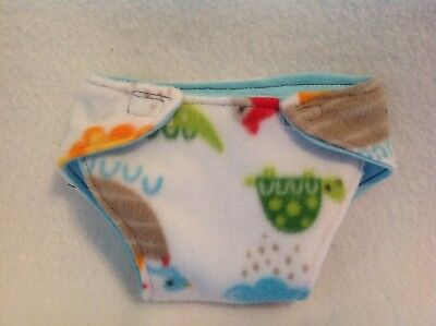 """15"""" doll cloth diaper animal girl/boy clothes fit Bitty Baby Alive Cabbage Patch"""