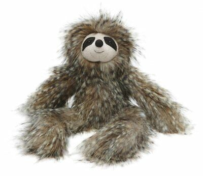 Jellycat Sloth Cyril Brown Tan Black Fluffy Stuffed Animal NEW