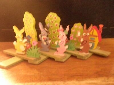 VINTAGE 1930's EASTER DISPLAY - RARE ACCORDIAN WOOD