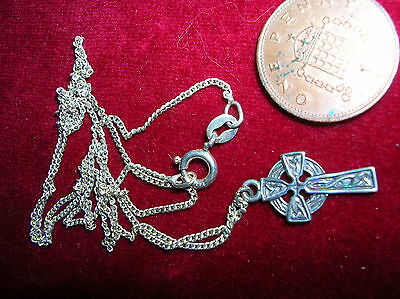 Silver Chain And Cross Marked  .925