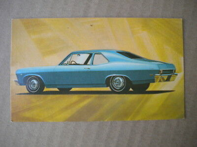1968 Chevrolet Car Dealers  Post Card