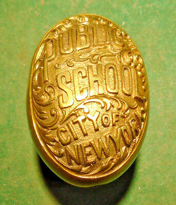 PUBLIC SCHOOLS of NEW YORK ANTIQUE DOOR KNOB:  READING HARDWARE (11311-18)
