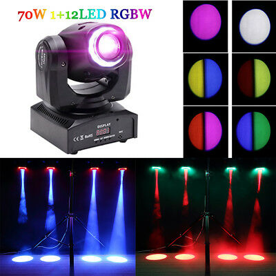 70W LED RGBW DMX Spot Moving Head Bühnenlicht Effect Magical Beam Gobos Colors