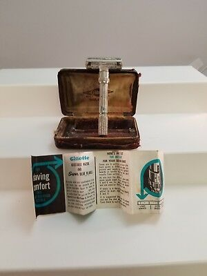 Antique Gillette Milord Adjustable Razor in box with paperwork  Lot(1210-36)